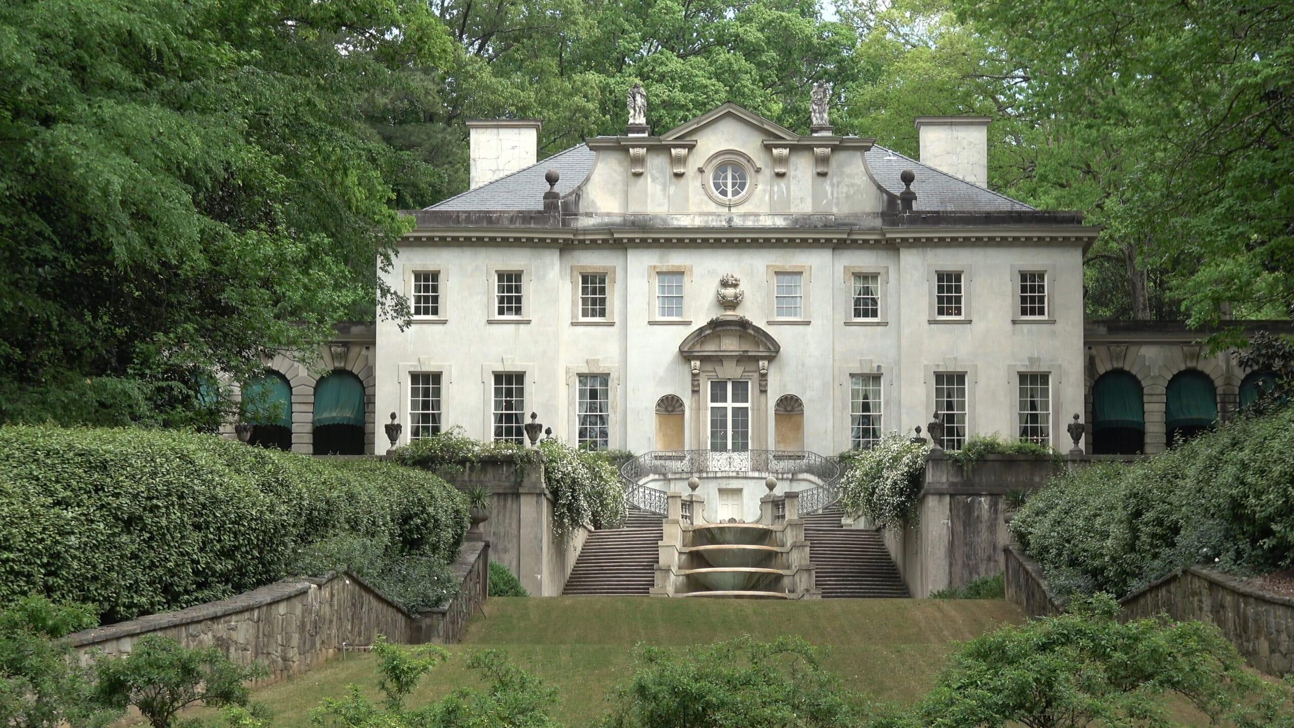 Famous Swan House in Atlanta - part of Atlanta History center - ATLANTA, GEORGIA - APRIL 22, 2016