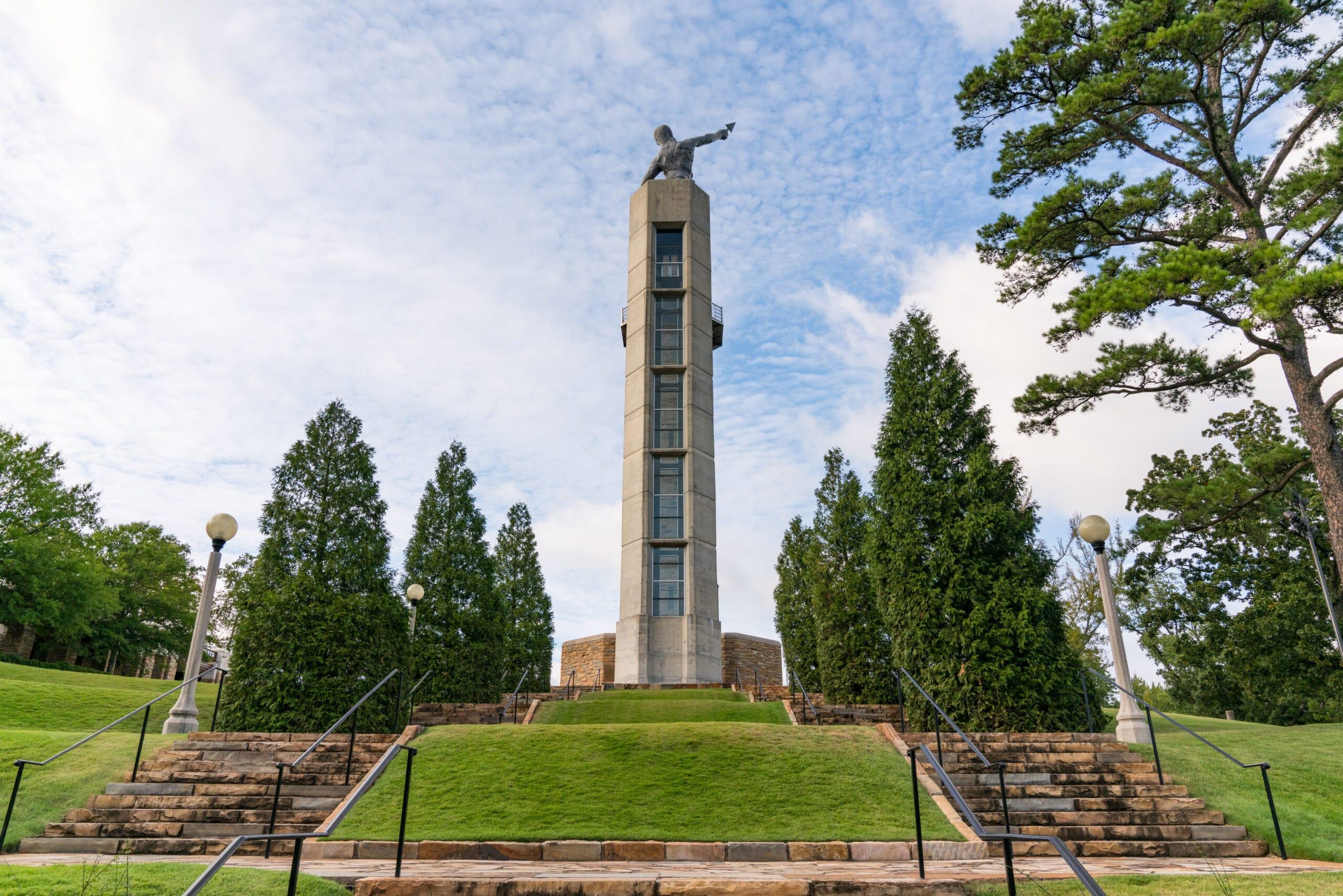 Birmingham, AL - October 7, 2019: Observation Tower in Vulcan Park in Birmingham, Alabama