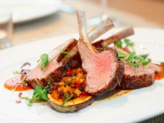 A lamb dish at Empire State South in Atlanta
