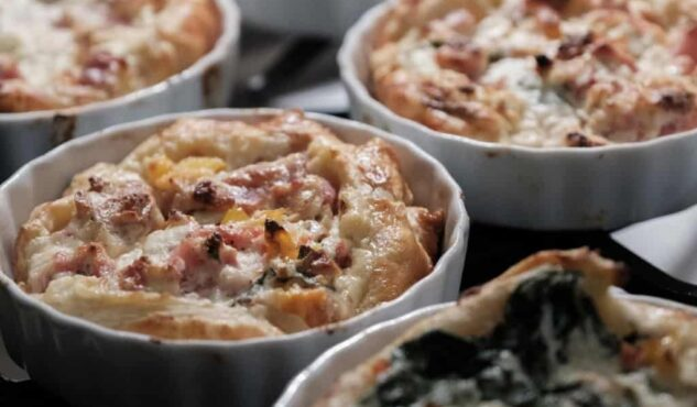 Assortment of different quiches in Stonehurst Place
