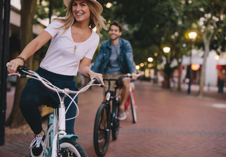 People riding backs in downtown Atlanta