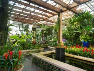 Orchid center at the Atlanta Botanical Garden by PIedmont Park