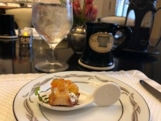 Pastry cup for breakfast at Stonehurst Place