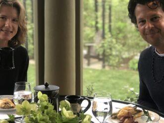 Couple enjoying breakfast at Stonehurst Place