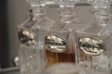 Stedman Suite assortment of liquor option in glass carafes in Stonehurst Place