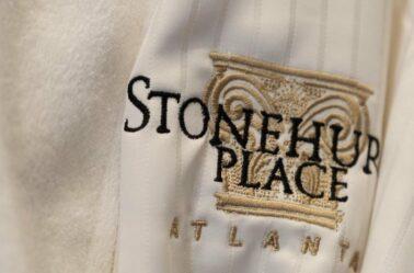 Stonehurst decal on robe in Stonehurst Place